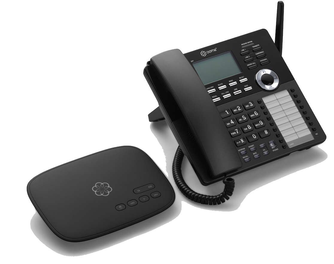 Ooma Telo Home Office: Free Phone Service with Business Class Desk Phone
